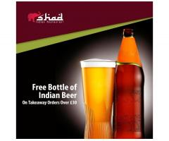 Free Bottle of Indian Beer from The Shad Indian!