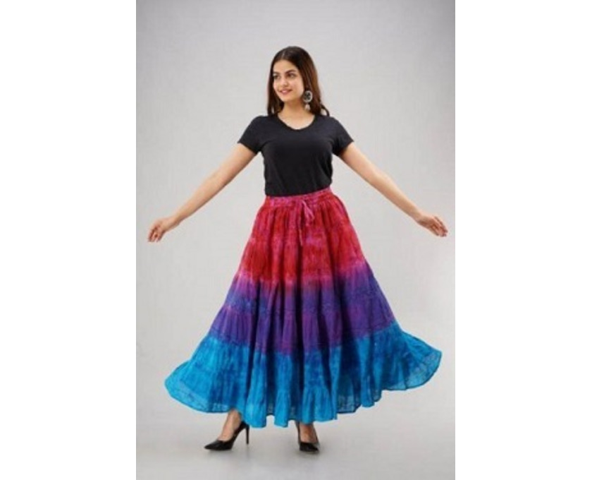 Shop Designer Tie-Dye Skirts Online at Jordash Clothing - 3/4