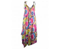 Shop Multicoloured Patchwork Dungarees Online - Image 2/2