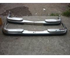 Mercedes benz W108 bumpers with rubbers inserted